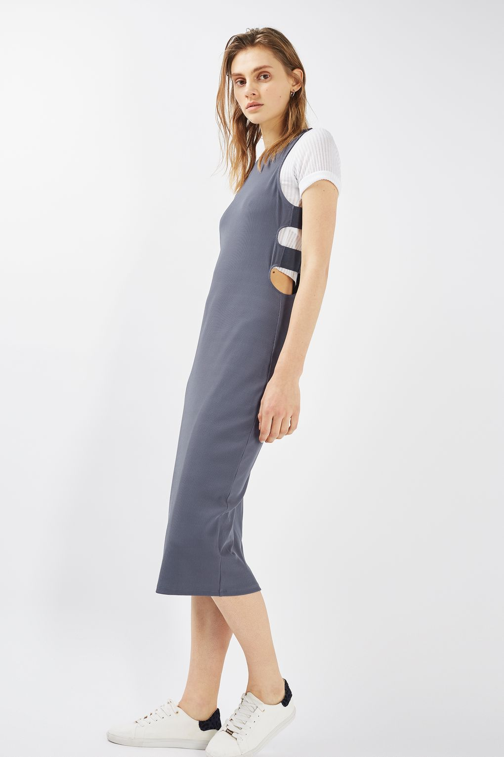 77a566d9 Topshop Cut-Out Side Midi Dress, $24